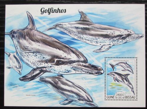 Poštovní známka Guinea-Bissau 2015 Delfíni Mi# Block 1343 Kat 9€