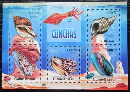 Poštovní známky Guinea-Bissau 2013 Mušle Mi# 6712-16 Kat 12€