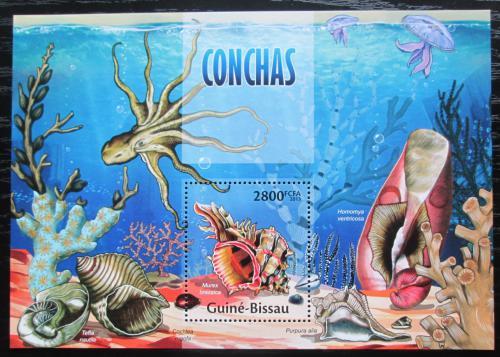 Poštovní známka Guinea-Bissau 2013 Mušle Mi# Block 1178 Kat 10€