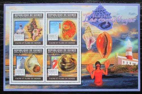Poštovní známky Guinea 2011 Mušle a majáky Mi# 8289-92 Kat 12€