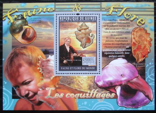 Poštovní známka Guinea 2011 Mušle a majáky Mi# Block 1939 Kat 18€