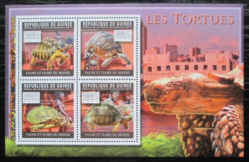 Poštovní známky Guinea 2011 Želvy Mi# 8304-07 Kat 12€