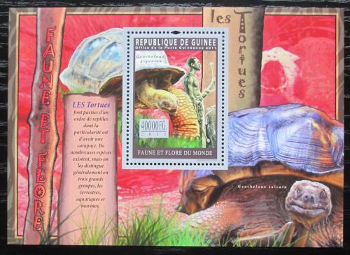 Poštovní známka Guinea 2011 Želvy Mi# Block 1942 Kat 16€