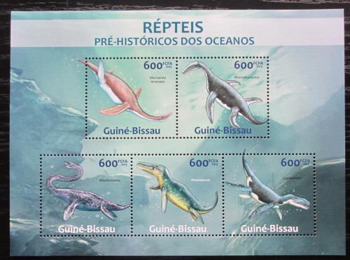 Poštovní známky Guinea-Bissau 2013 Prehistoriètí plazi Mi# 6584-88 Kat 12€