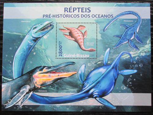 Poštovní známka Guinea-Bissau 2013 Prehistoriètí plazi Mi# Block 1153 Kat 11€
