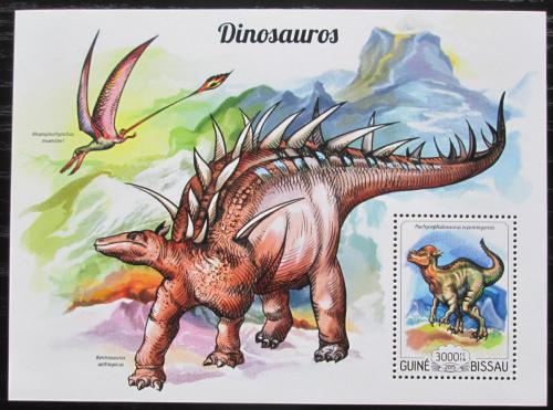 Poštovní známka Guinea-Bissau 2015 Dinosauøi Mi# Block 1351 Kat 12€