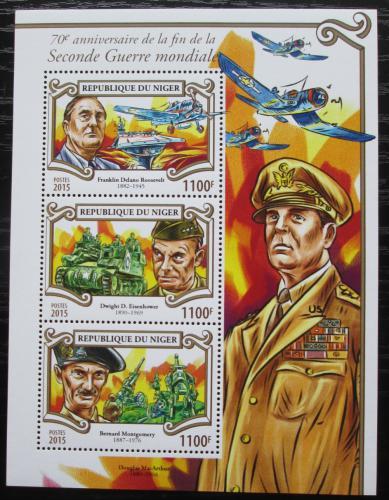 Poštovní známky Niger 2015 Druhá svìtová válka Mi# 3562-64 Kat 13€