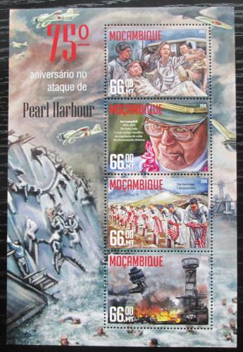 Poštovní známky Mosambik 2016 Útok na Pearl Harbor Mi# 8554-57 Kat 15€