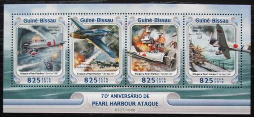 Poštovní známky Guinea-Bissau 2016 Útok na Pearl Harbor Mi# 8489-92 Kat 12.50€