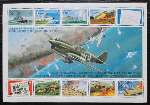 Poštovní známky Gambie 1992 Útok na Pearl Harbor Mi# Block 157 Kat 17€