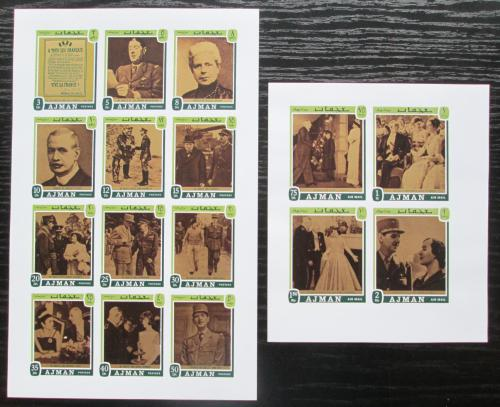 Poštovní známky Adžmán 1971 Charles de Gaulle neperf. Mi# 1124-40 B Kat 10€