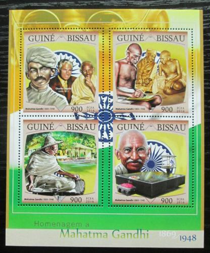 Poštovní známky Guinea-Bissau 2016 Mahatma Gandhí Mi# 8654-57 Kat 13.50€
