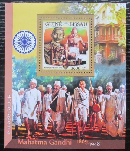 Poštovní známka Guinea-Bissau 2016 Mahatma Gandhí Mi# Block 1500 Kat 13.50€