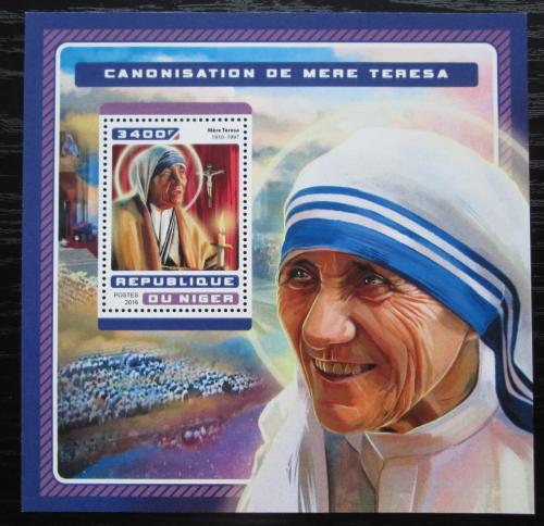 Poštovní známka Niger 2016 Matka Tereza Mi# Block 635 Kat 13€