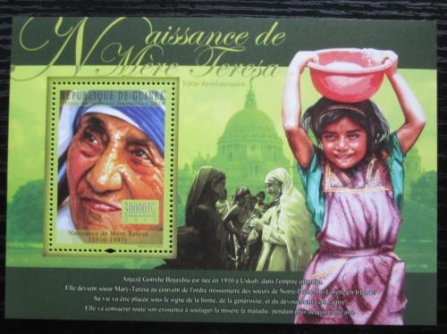 Poštovní známka Guinea 2010 Matka Tereza Mi# Block 1851 Kat 10€