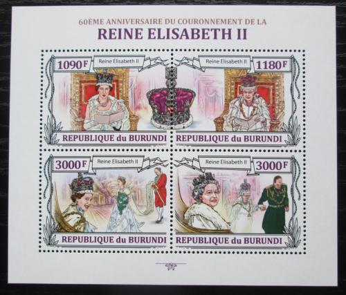 Poštovní známky Burundi 2013 Královna Alžbìta II. Mi# 3173-76 Kat 10€