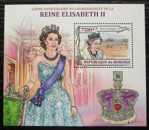 Poštovní známka Burundi 2013 Královna Alžbìta II. Mi# Block 359 Kat 9€