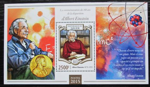 Poštovní známka Niger 2015 Albert Einstein Mi# Block 419 Kat 10€