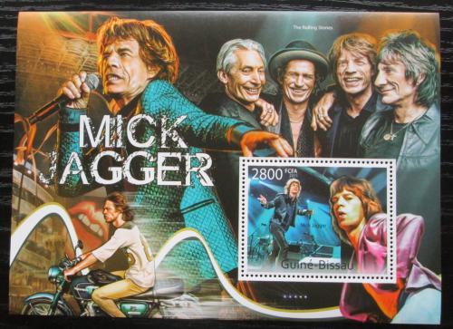 Poštovní známka Guinea-Bissau 2011 Mick Jagger, Rolling Stones Mi# Block 968 Kat 11€