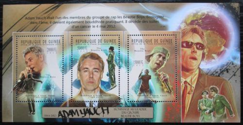 Poštovní známky Guinea 2012 Adam Yauch, Beastie Boys Mi# 9368-70 Kat 16€