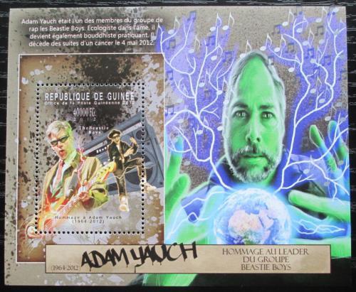 Poštovní známka Guinea 2012 Adam Yauch, Beastie Boys Mi# Block 2131 Kat 16€
