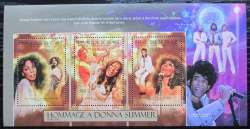 Poštovní známky Guinea 2012 Donna Summer, americká zpìvaèka Mi# 9364-66 Kat 16€