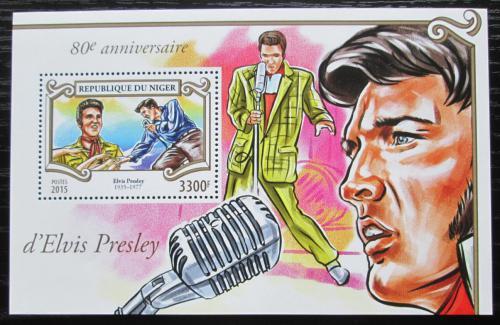 Poštovní známka Niger 2015 Elvis Presley Mi# Block 468 Kat 13€