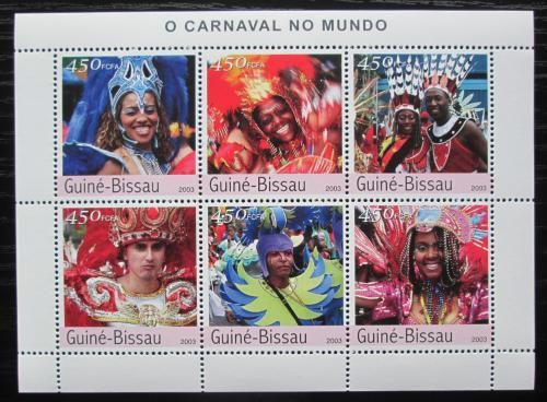 Poštovní známky Guinea-Bissau 2003 Svìtové karnevaly Mi# 2363-68 Kat 11€