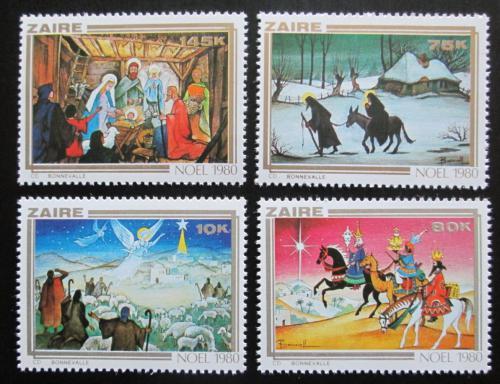 Poštovní známky Zair 1980 Vánoce Mi# 703-06