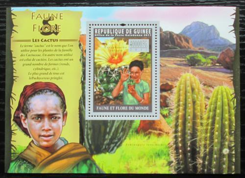 Poštovní známka Guinea 2011 Kaktusy Mi# Block 1936 Kat 16€