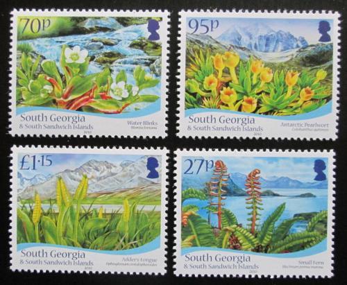 Poštovní známky Jižní Georgie 2010 Místní flóra TOP SET Mi# 515-18 Kat 12€