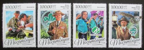 Poštovní známky Mosambik 2016 Skauti, Robert Baden-Powell Mi# 8704-07 Kat 22€