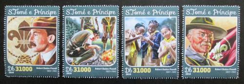 Poštovní známky Svatý Tomáš 2016 Robert Baden-Powell Mi# 6571-74 Kat 12€