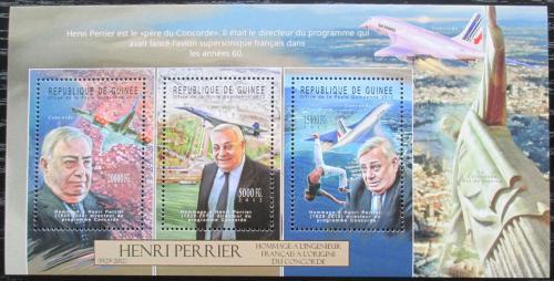 Poštovní známky Guinea 2012 Henri Perrier, Concorde Mi# 9360-62 Kat 16€