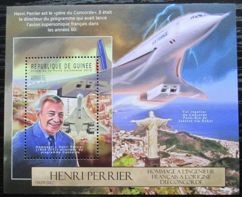 Poštovní známka Guinea 2012 Henri Perrier, Concorde Mi# Block 2129 Kat 16€