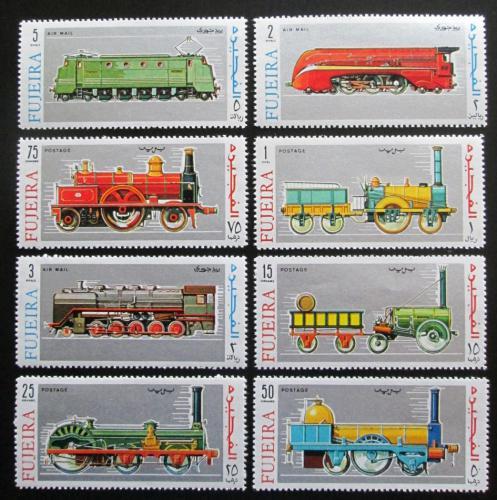 Poštovní známky Fudžajra 1969 Lokomotivy Mi# 333-40 Kat 10€