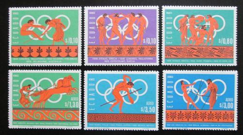 Poštovní známky Ekvádor 1966 Dìjiny olympijských her Mi# 1262-67 Kat 9€