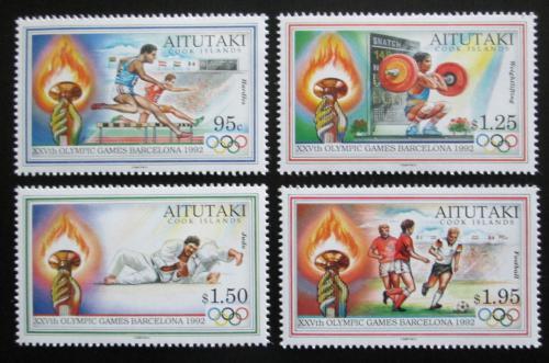 Poštovní známky Aitutaki 1992 LOH Barcelona Mi# 683-86 Kat 13€