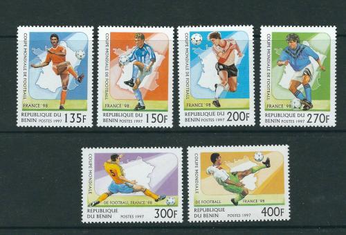 Poštovní známky Benin 1997 MS ve fotbale Mi# 919-24 Kat 7€