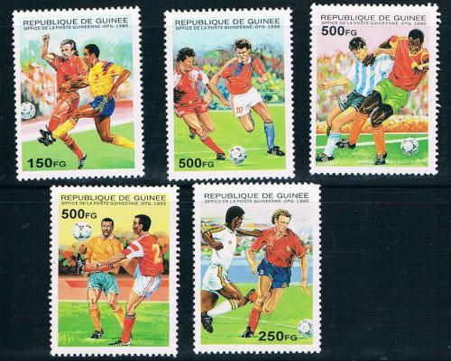 Poštovní známky Guinea 1995 MS ve fotbale Mi# 1555-59