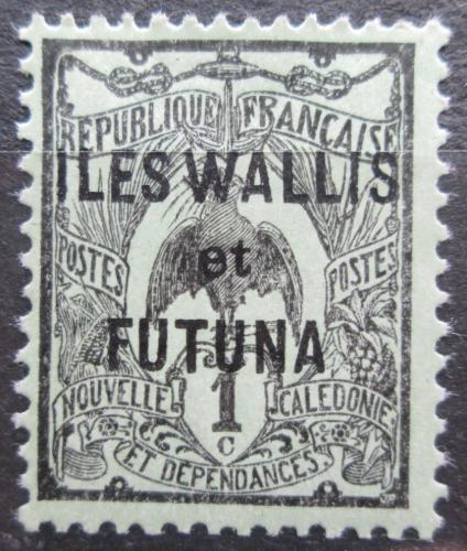 Poštovní známka Wallis a Futuna 1920 Kagu chocholatý pøetisk Mi# 1