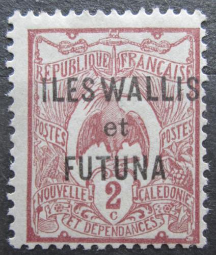 Poštovní známka Wallis a Futuna 1920 Kagu chocholatý pøetisk Mi# 2