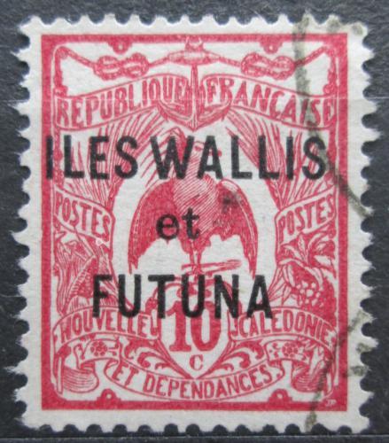 Poštovní známka Wallis a Futuna 1920 Kagu chocholatý pøetisk Mi# 5
