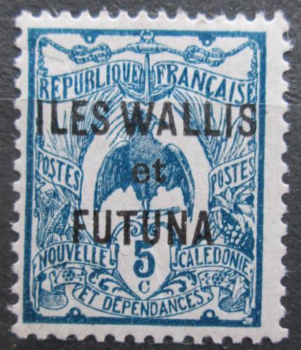 Poštovní známka Wallis a Futuna 1922 Kagu chocholatý pøetisk Mi# 18