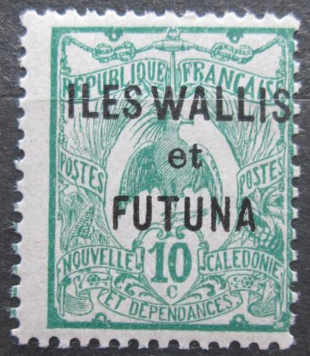 Poštovní známka Wallis a Futuna 1922 Kagu chocholatý pøetisk Mi# 19