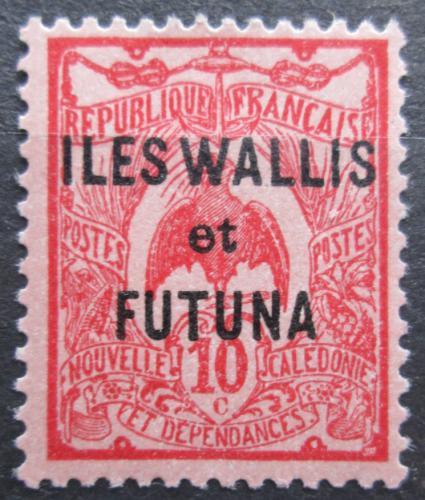 Poštovní známka Wallis a Futuna 1925 Kagu chocholatý pøetisk Mi# 20