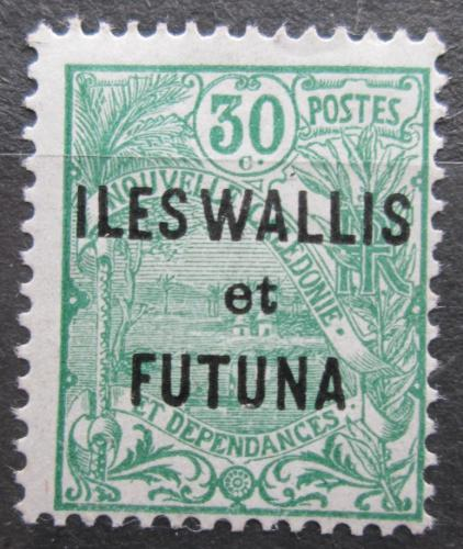 Poštovní známka Wallis a Futuna 1927 Vesnice pøetisk Mi# 24