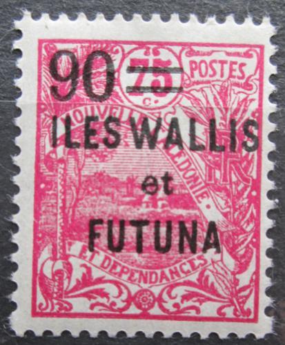 Poštovní známka Wallis a Futuna 1927 Vesnice pøetisk Mi# 35
