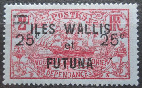 Poštovní známka Wallis a Futuna 1924 Plachetnice pøetisk Mi# 33
