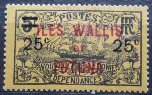 Poštovní známka Wallis a Futuna 1924 Plachetnice pøetisk Mi# 34